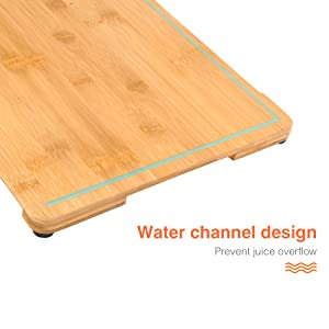 cutting board with juice grooves