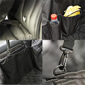 Looxmeer Hundedecke Auto Kofferraumschutz Hund für die Rückbank mit Sicherheitsgurt