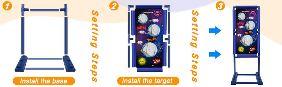 moving target Setting steps