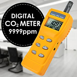 JIABAN Detector digital de CO2 port/átil PM2.5 Temperatura Humedad Monitor de Calidad del Aire NDIR