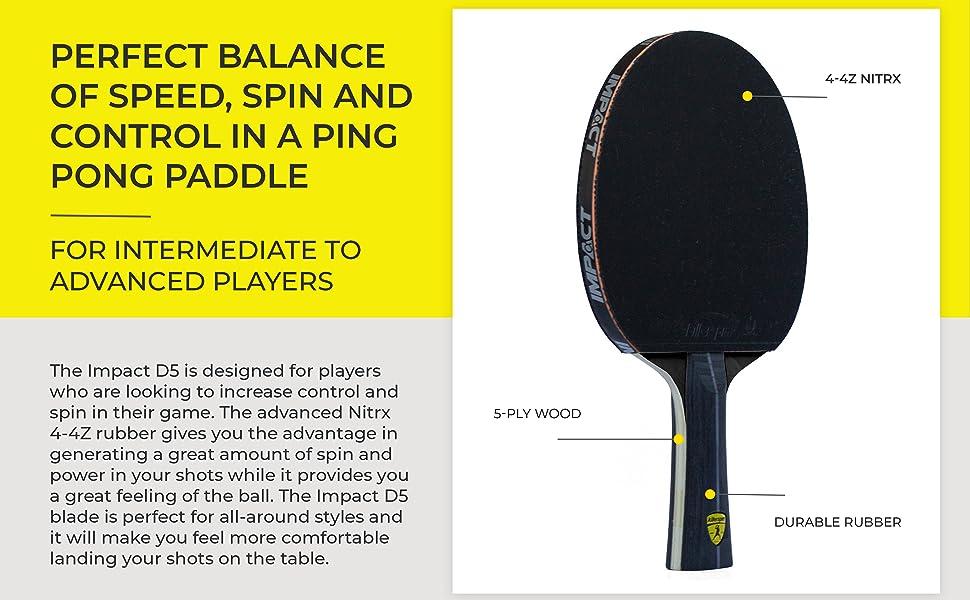 ping pong paddle table tennis paddle black