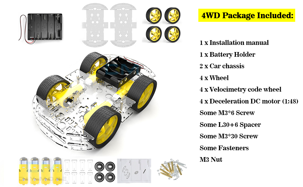 robot chassis for arduion
