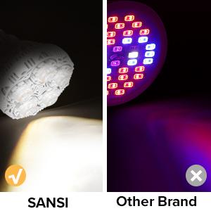 grow light sansi grow light 15w grow bulb full spektrum grow glödlampor 24W 30W