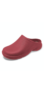 Womens ladies garden clogs lightweight waterproof gardening shoes comfortable slip-on classic
