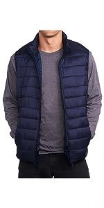 mens puffer n=vest bubble vest cold weather vest zipper vest zip up