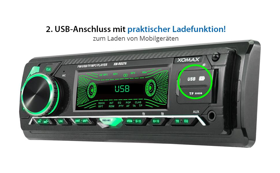 Xomax Xm Rd276 Autoradio Mit Dab Tuner Und Antenne I Elektronik