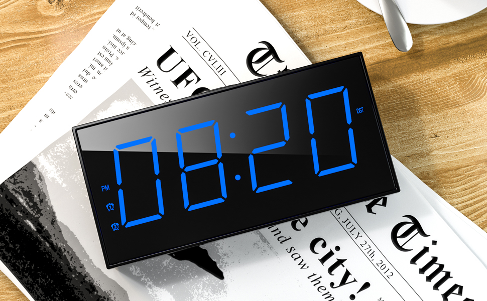 digital clock large display