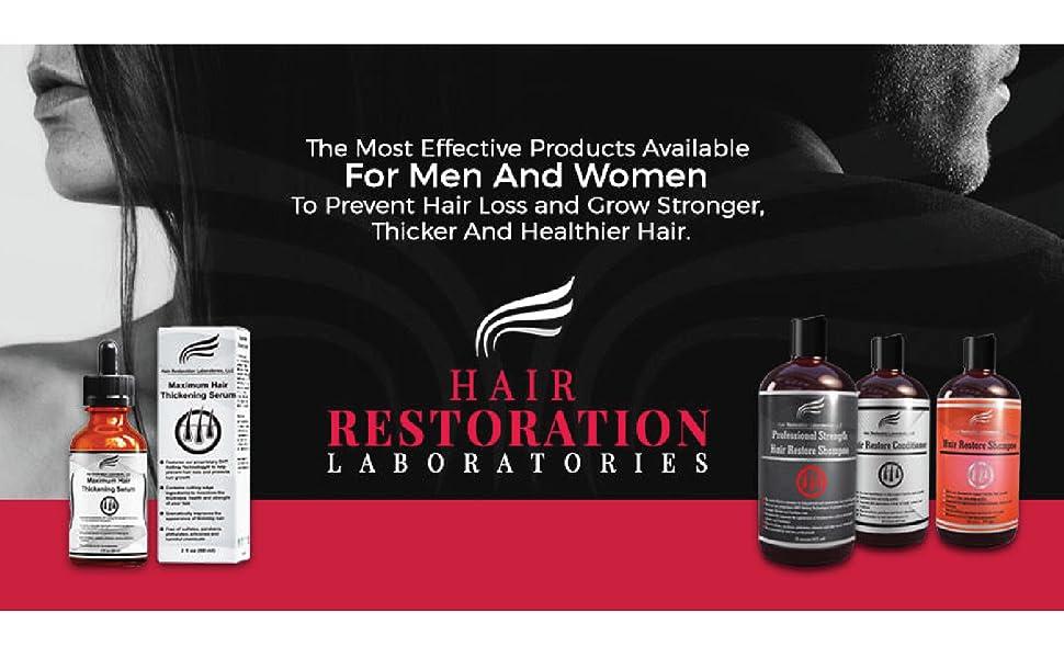restore shampoo hairline receeding line balding thin thinning