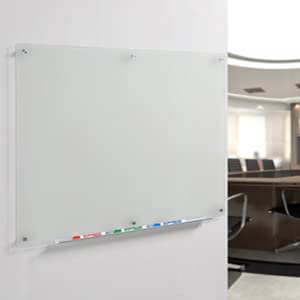 Amazon Com Audio Visual Direct Frosted Glass Dry Erase Board Set 23