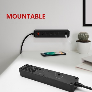 mountable power strip with usb