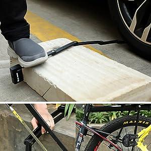 Motorcycle Fold Locks Bike Lock High Security Hardened Steel Metal Great Bike Safety Tool DURABLE