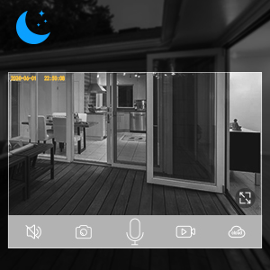 night vision  【2020 Upgrated】 Wireless Outdoor Security Camera, WiFi 1080P Solar Security Camera 10400mAh Rechargeable Battery, PIR Motion Detection, Night Vision, 2-Way Audio, 3 Antenna, IP67 Waterproof, Cloud SD 7c2aaf81 631e 4bb2 95bc 7680ba14c5e5