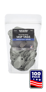 145P Tags 100PK Gray Fiber Tags Telecom