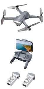 blue drone camera