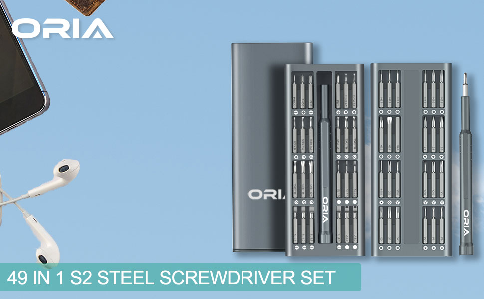 2019 Upgraded  Precision Screwdriver Set with with 48 S2 Tool Steel Driver Bits