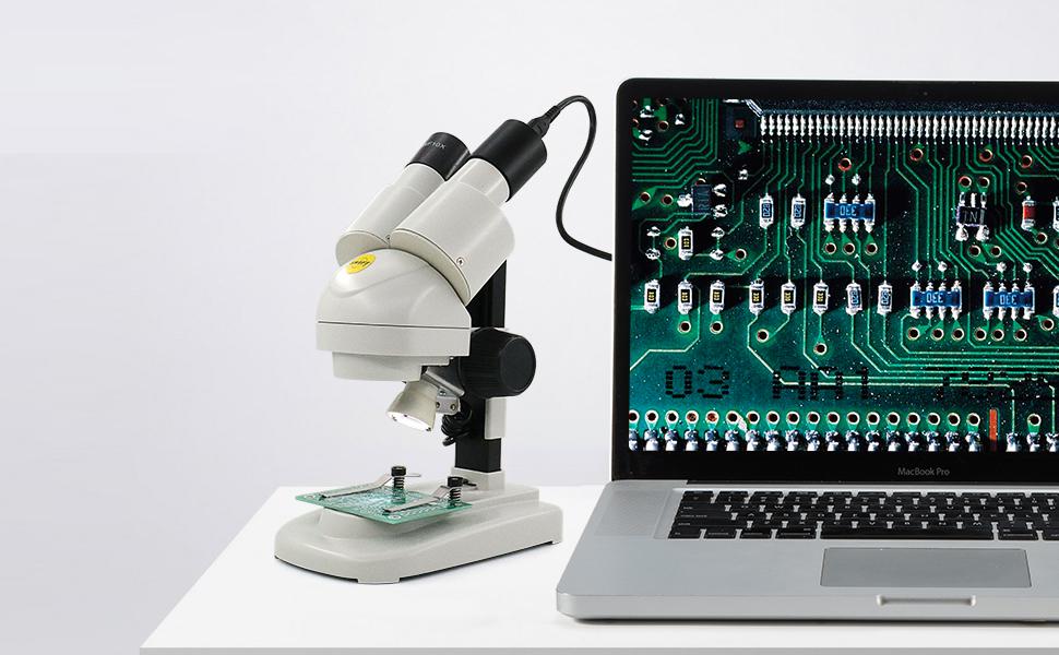 Swift Microscopio estéreo con adaptador de teléfono para niños,20X ...