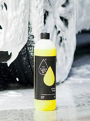 Cleantech Co Aktiv Schaum 1l Max 40l Snow Foam Reinigungsschaum Auto Shampoo Citrus Foam Autopflege Autowäsche Glanzreinigung Für Schaumdüse Schaumkanone Schaumsprüher Schaumreiniger Drucksprüher Auto