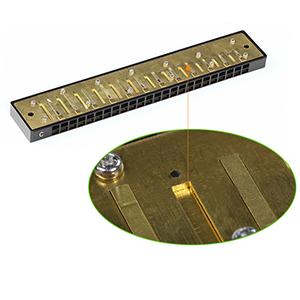 Harmonica trémolo 24 trous clés de C