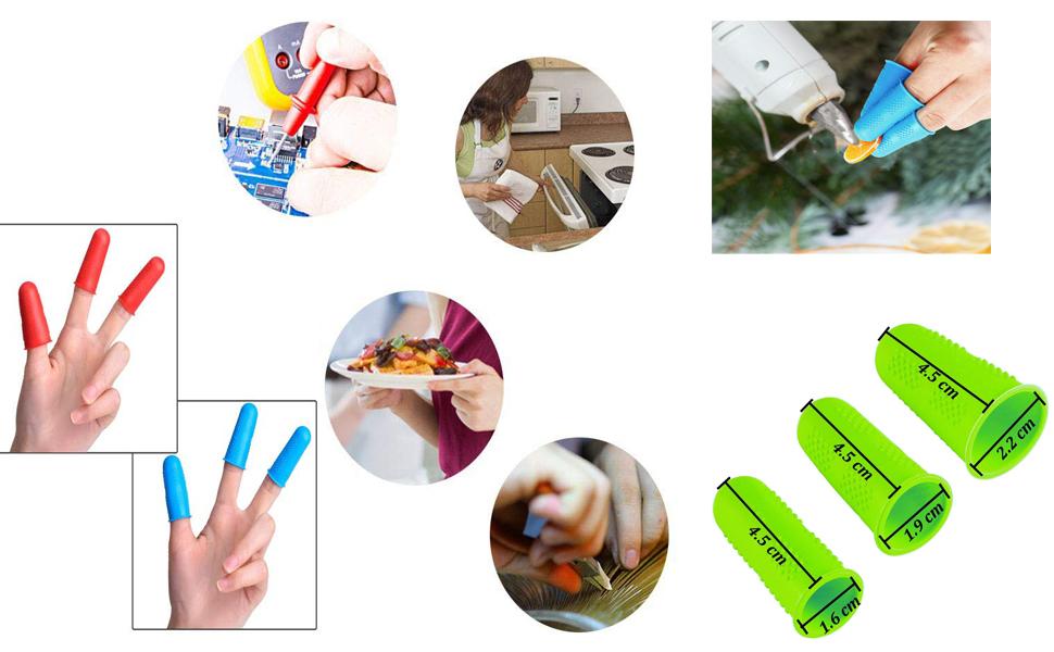 15 Pack Silicone Hot Glue Gun Finger Caps