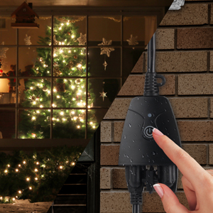 HBN Heavy Duty Dual Outlet Outdoor Smart WiFi Plug