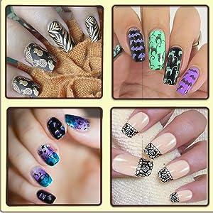 nail art plate kit