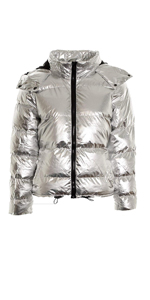 Hooded Water-Resistant  Ultra Light Weight Short Down Jacket