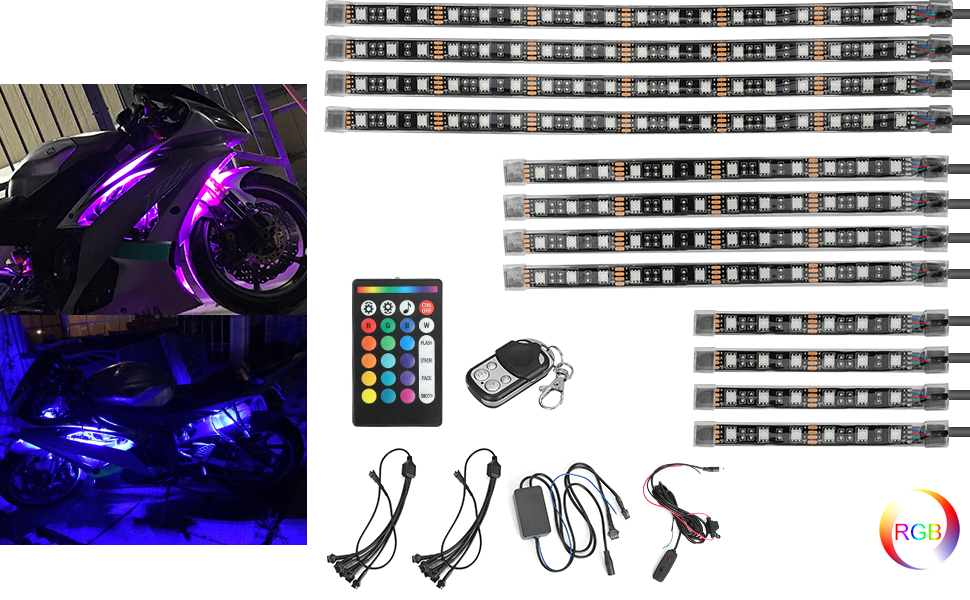 motorcycle led strips