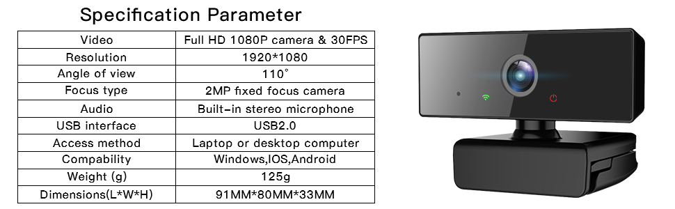 1080p webcam with mic