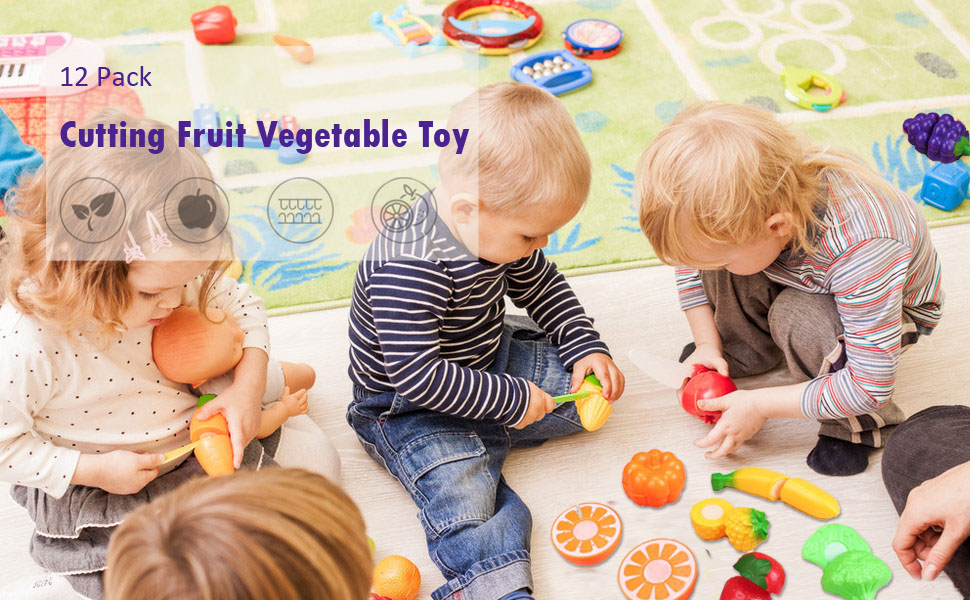 cutting food toys 12pack