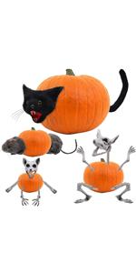 Cat and Rat Pumpkin Decorating Stakes Kit (3 Sets)