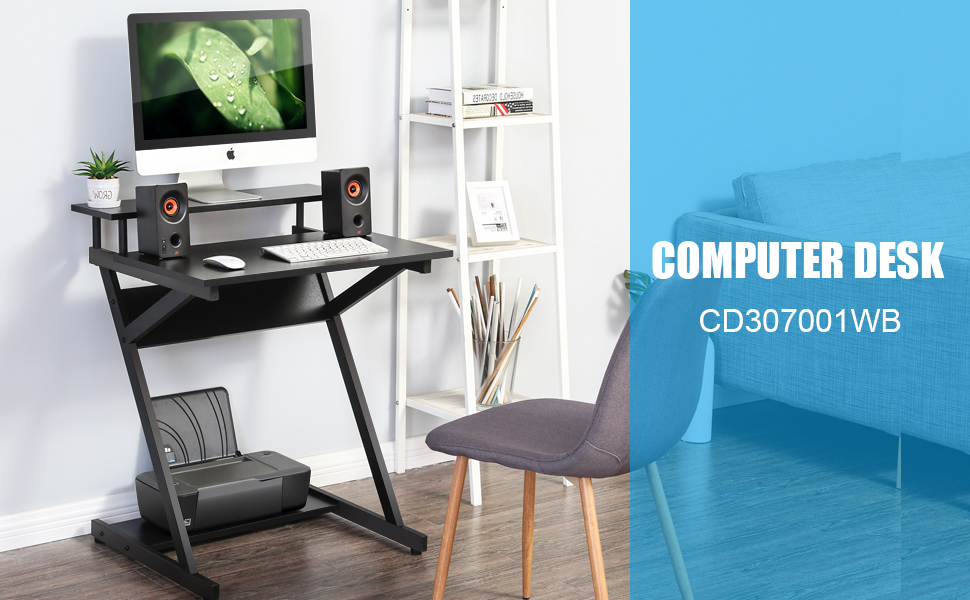 Computer Desk Study Work Writing Bed Sofa End Table Desk for Home Office Black