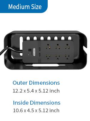 power strip box organizer