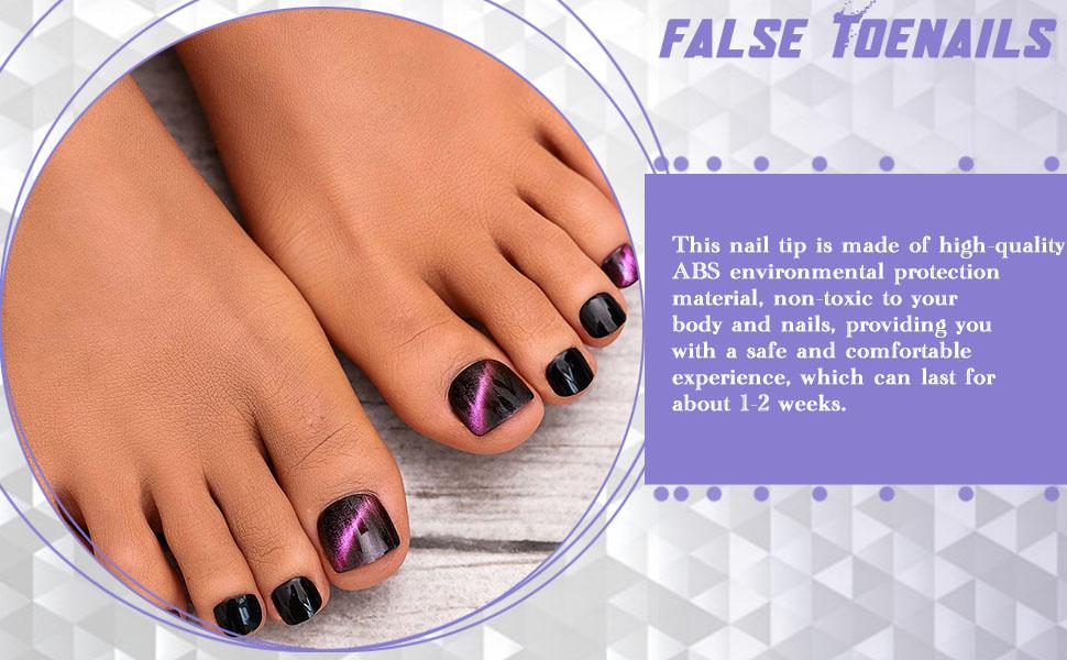 Clip on toe nails
