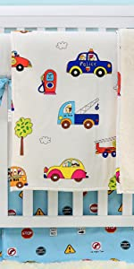 truck baby boys crib bedding sets printed car