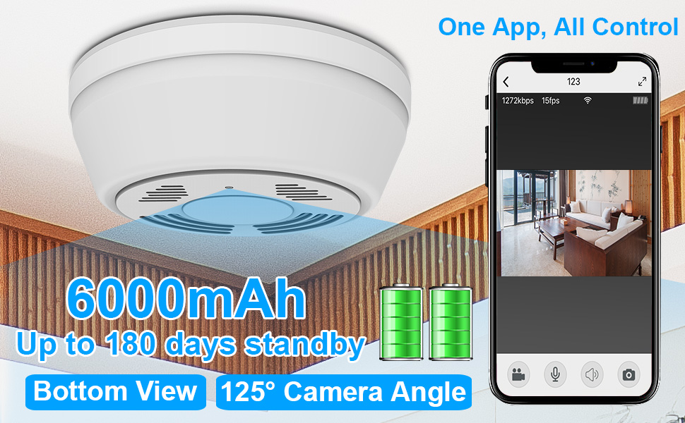 smoke detector hidden camera wifi nanny camera smoke detector battery camera wirefree security cam