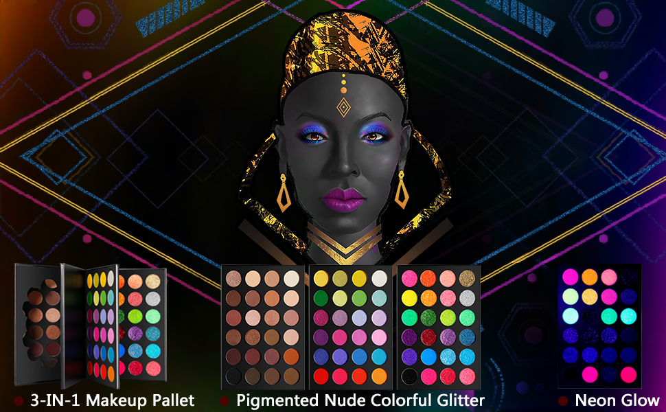 colorful nude glitter