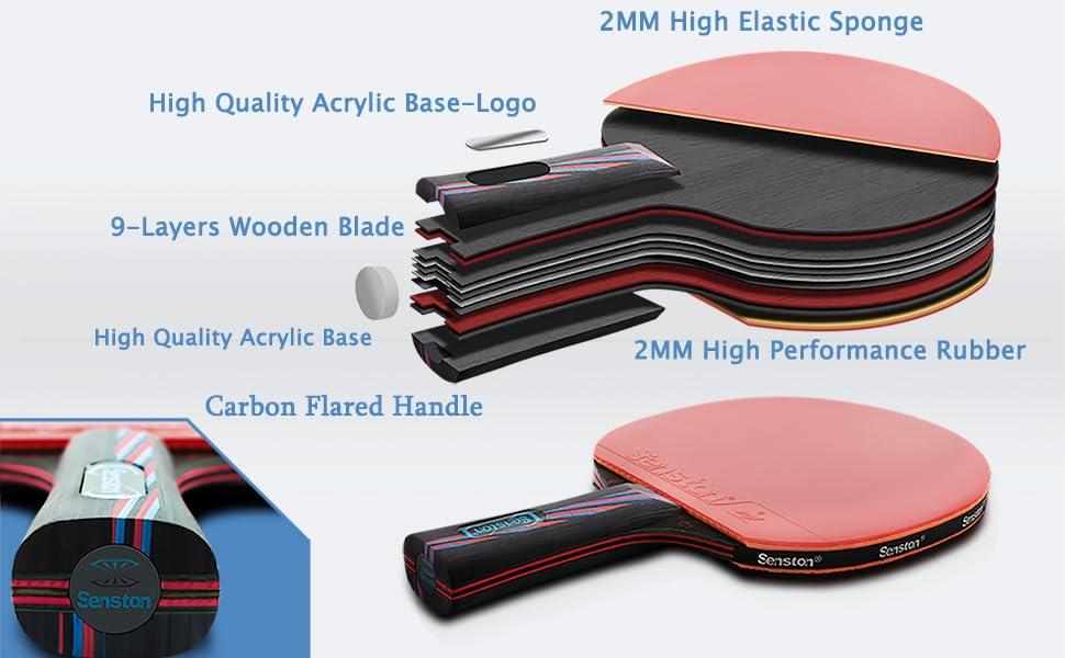 ping pong paddle set 2 ping pong paddles table tennis paddles and balls table tennis paddles