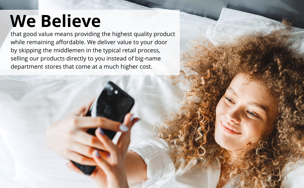 Value, mission, cotton, belief, luxury, bedding, sheets