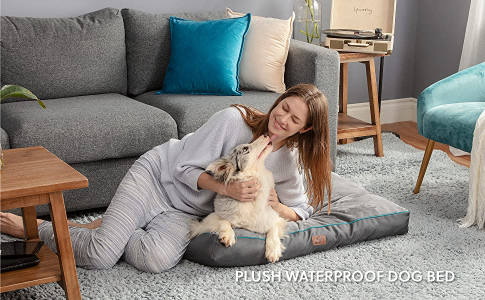 Bedsure Waterproof Dog Bed for Large Dogs