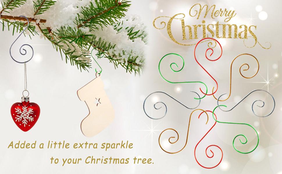 Mini Skater 30PCS Small Christmas Ornament Hook 1.5 Inch Length Metal Christmas Tree Hanger Hook Xmas Decoration S Hooks for Christmas Tree Decorating Silver Christmas Hook