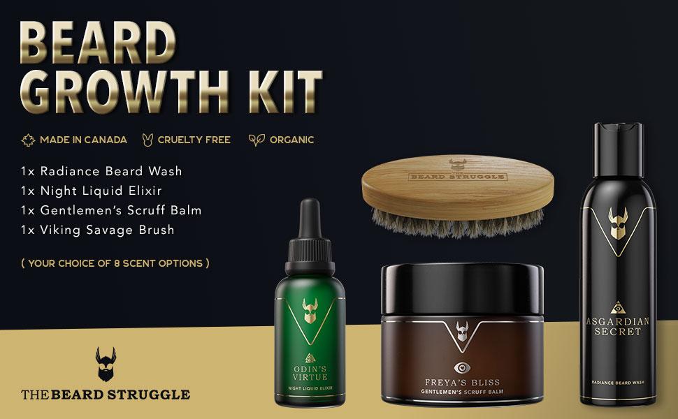 The Beard Struggle Beard Growth Kit