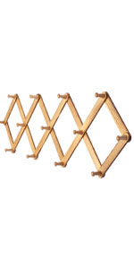 Amazon.com : OROPY Wooden Expandable Coat Rack Wall Mounted ...