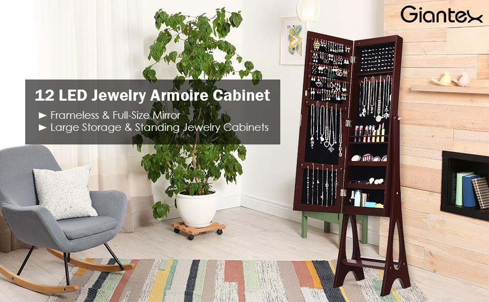 12 LED jewelry armpire cabinet