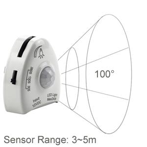 IFITech Bed Light, LED Strip Light, Motion Sensor Light, Auto On/Off Light, Night Lamp, Dimmer