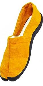 アーシング足袋オレンジ色
