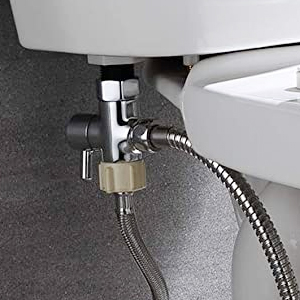 Installation Step 3: We need to connect the T-valve to the hose & the toilet tank.