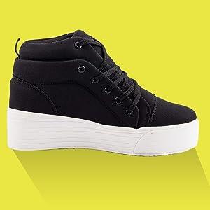 Women Black Sneaker Shoes