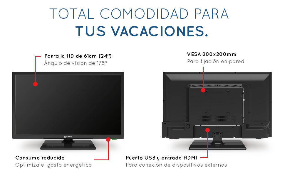 Grunkel - LED-24 IV - Televisor LED HD Ready Alta definición: Amazon.es: Electrónica