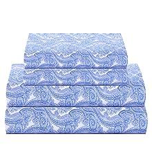 paisley blue sheet set