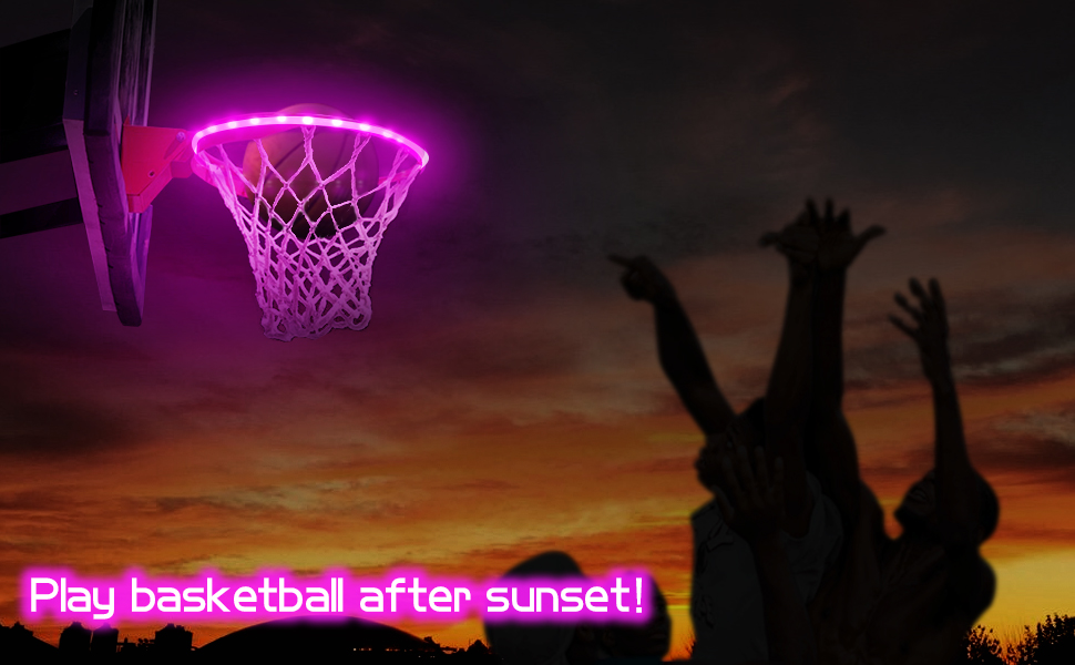basketball hoop lights